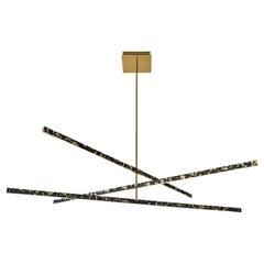 Douglas Fanning, Till 3 Tier, Contemporary Brass Ceiling Light, US, 2021