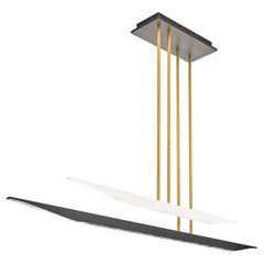 Douglas Fanning, Uneven Dual Pirogue, Aluminum Ceiling Light, US, 2021