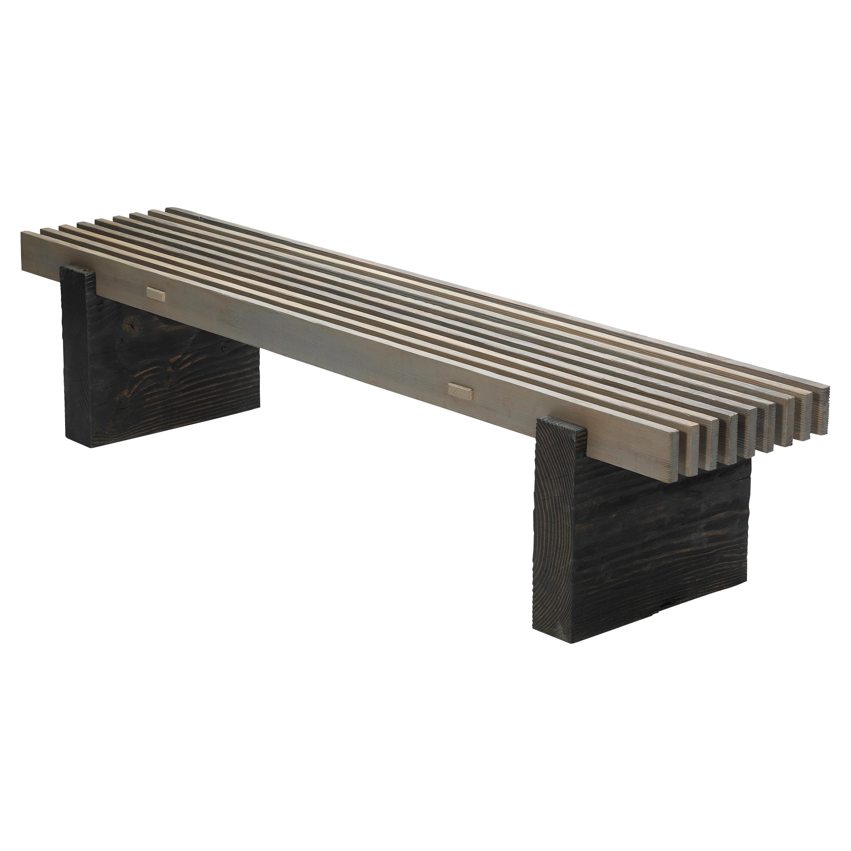 Douglas Fir Wood Outdoor Slat Bench