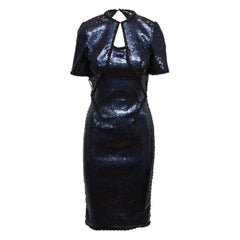 Douglas Hannant Navy Resort 2014 Sequined Dress