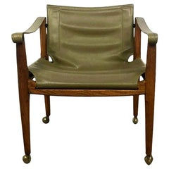 Douglas Heaslett for Brown Saltman Mid-Century Modern Safari Sling Chair