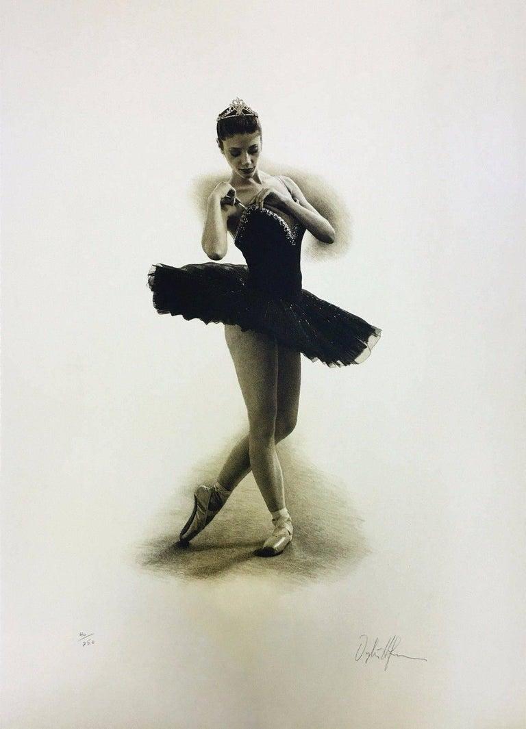 Douglas Hoffman Figurative Print - BLACK SWAN