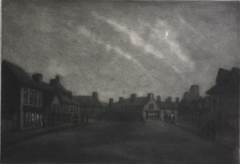 Douglas Ion Smart, R.E.  Figurative Print - Moonlight, Rye