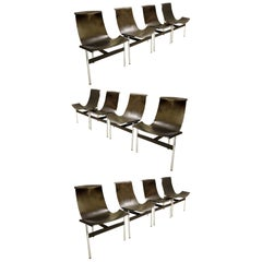 "Douglas Kelly, Ross Littell and William Katavolos ""T"" Chairs, Set of 12"