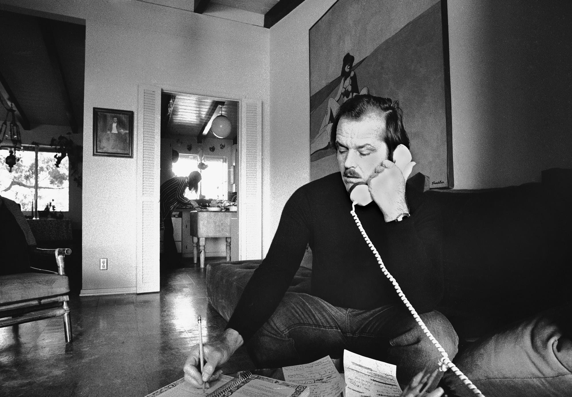 Jack Nicholson at Home, 1975 by Douglas Kirkland