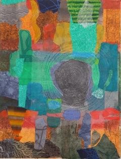 Abstract Monotype, 'Cretan View', California Artist, SFMOMA, Met and LACMA