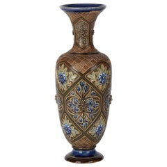Doulton Lambeth Art Pottery Vase by Frank Butler, 1882
