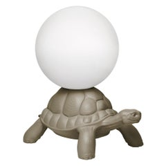 Dove Grey Turtle Carry Lamp, Designed by Marcantonio