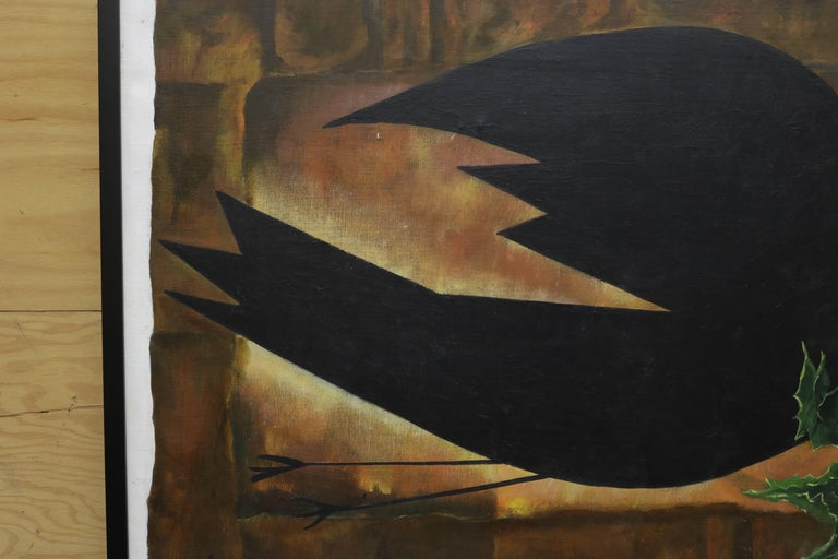 American Dove Holding a Branch Oil Painting by David Segel For Sale