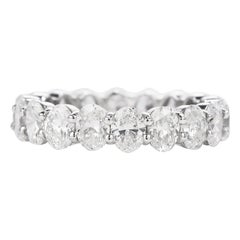 Dover 4.32 Carat Oval Cut Diamond Eternity Gold Wedding Band Ring