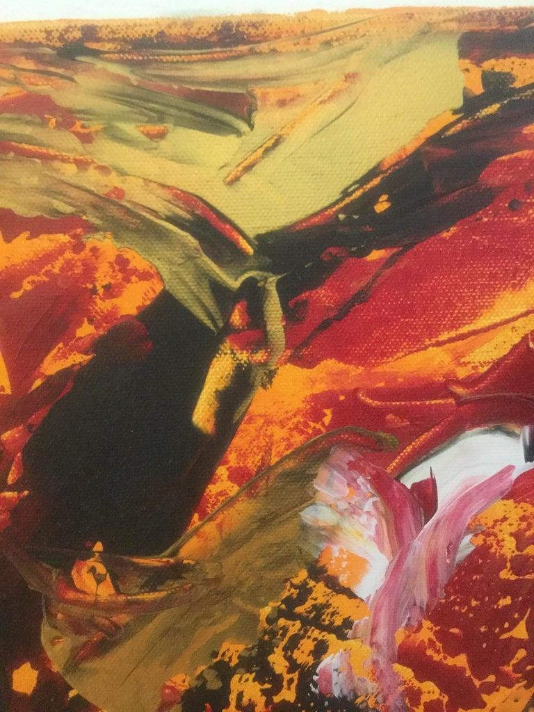 'Doves and Crows' Acryl on canvas/2013 60 x 80 cm by Eitan Rubin