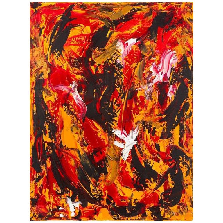 'Doves and Crows' Acryl on Canvas/2013 by Eitan Rubin For Sale