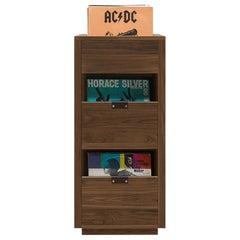 Dovetail 1 x 2.5 Vinyl Storage Cabinet Solid Natural Walnut