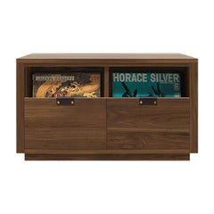 Dovetail 2 x 1 Vinyl Storage Cabinet Solid Natural Walnut 2 Drawers