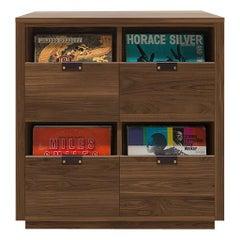 Dovetail 2 x 2 Vinyl Storage Cabinet Solid Natural Walnut