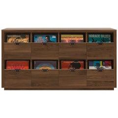 Dovetail 4 x 2 Vinyl Storage Cabinet Solid Natural Walnut 8 Drawers
