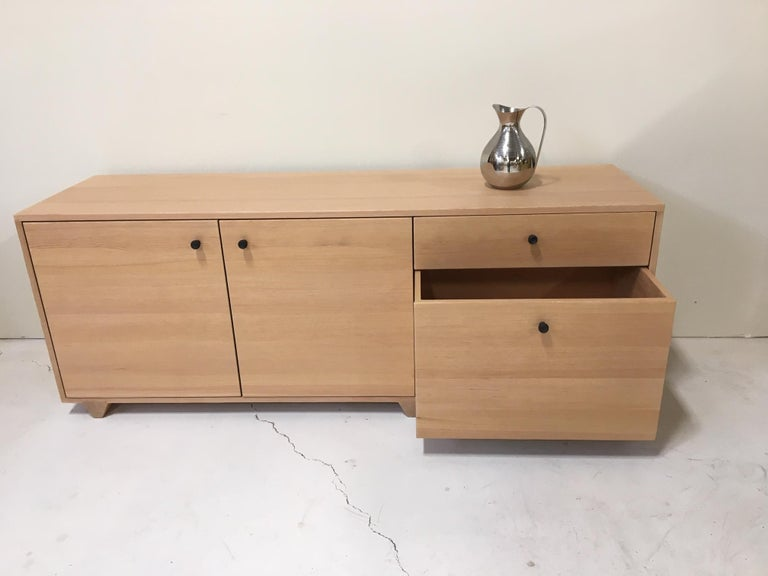 Dovetail Credenza in Vertical Grain Douglas Fir by Studio Moe In Distressed Condition For Sale In Portland, OR