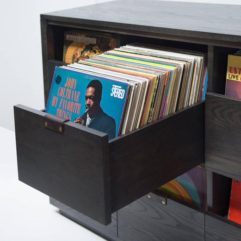Dovetail for Sonos Vinyl Storage Cabinet with Equipment Shelf For Sale 1