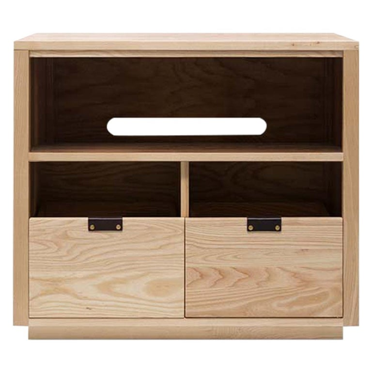 Dovetail for Sonos Vinyl Storage Cabinet with Equipment Shelf For Sale