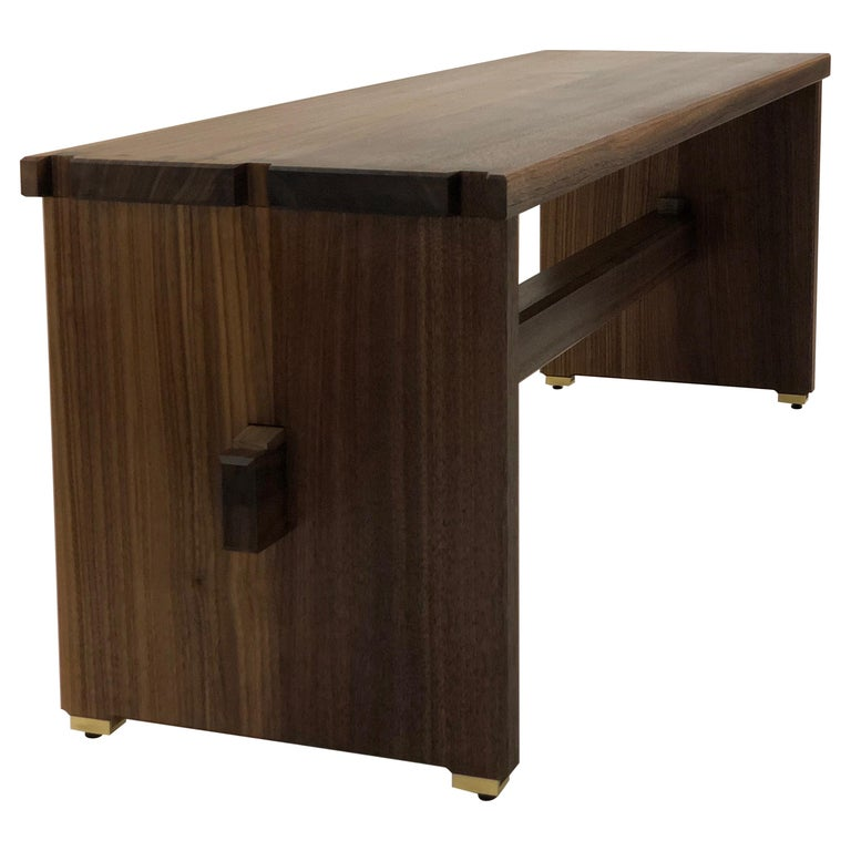 Dovetailed Bench in Walnut For Sale