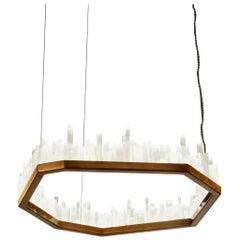 Downtown, White Selenite Pendant Lamp