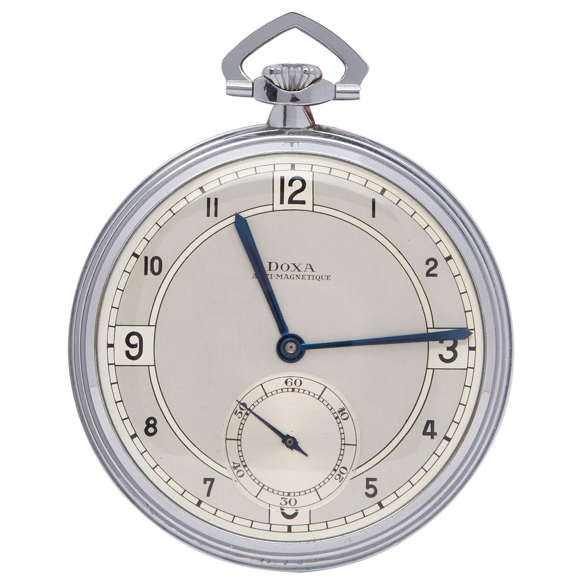 Doxa Pocket Watch Unisex Stainless Steel NOS Watch