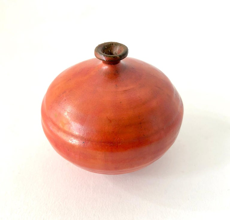 Mid-Century Modern Doyle Lane Stoneware California Studio Pottery Weed Vase For Sale