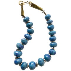 Doyle Lane Turquoise Ceramic Bead California Studio Necklace