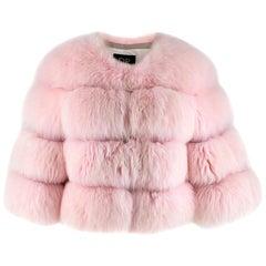 DR by Daria Radionova Pink Fox Fur Jacket - Size S