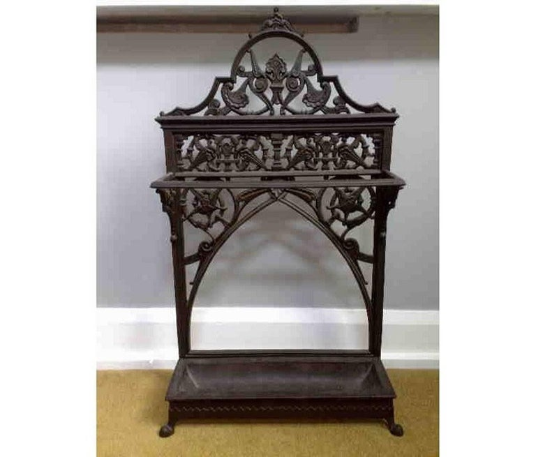 English Dr C Dresser An Aesthetic Movement Cast Iron Stick Stand Made By Coalbrookdale For Sale