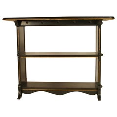 Dr C. Dresser, Style of, Aesthetic Movement Carved, Gilded & Ebonized Side Table