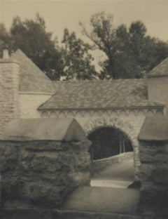 Brick Building and Roof, Silver Gelatin Photograph, Circa 1920s