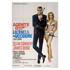 Dr. No R1970s Italian Quattro Fogli Film Poster