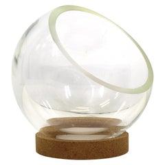 Dr. Peter Schlumbohm Modernist Glass Bowl On Cork Base