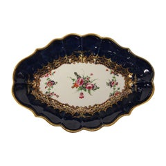 Dr. Wall Worcester Oval Porcelain Dish