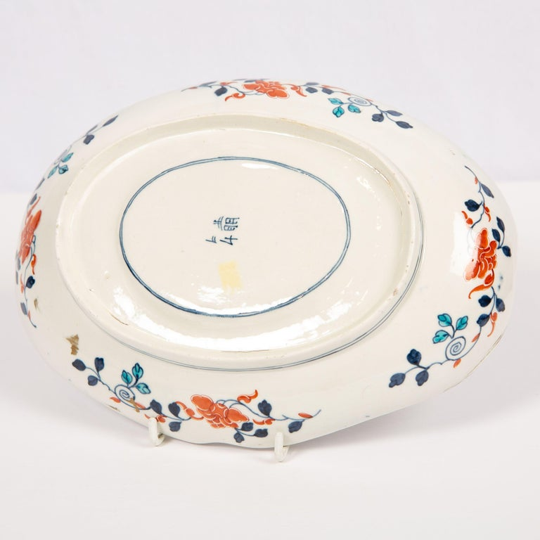 Dr. Wall Worcester Porcelain Mosaic Pattern Sauce Tureen and Stand Made For Sale 2