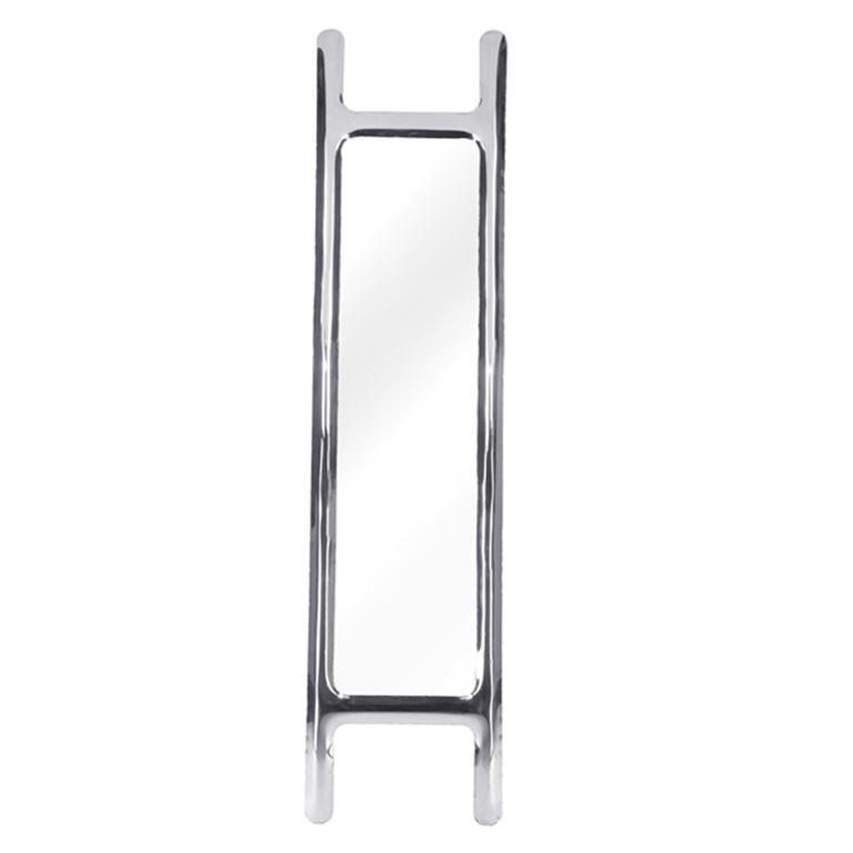 Contemporary Drab Mirror by Zieta Prozessdesign, Black Steel For Sale