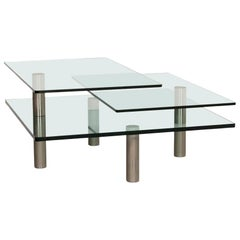 Draenert Imperial Glass Coffee Table Function Table