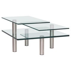 Draenert Imperial Glass Coffee Table Silver Table