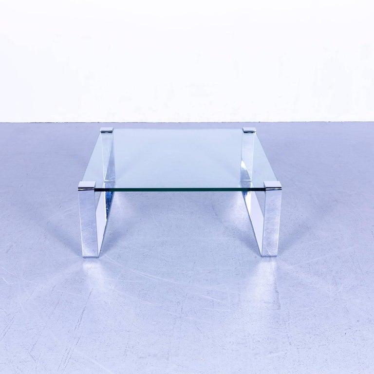 Draenert Klassik Couchtisch Glas Metall Grau Im Angebot Bei 1stdibs