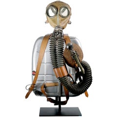 Drager Turtle Back Rebreather on Custom Museum Stand