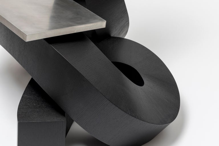 Dragon Chair Black Dyed Plywood and Aluminum by Chulan Kwak For Sale 1