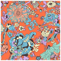 'Dragon Flowers' Indian Fresh on Smooth Wallpaper