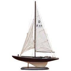 Dragon Olympic Sail Racer One Medium Hand Carved Wooden Model D F.17 Sailboat