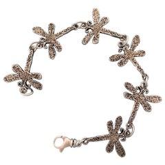 Dragonfly bracelet, sterling silver, Melanie Yazzie, Navajo,link bracelet,tennis