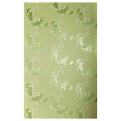 'Dragonfly' Contemporary, Traditional Wallpaper in Apple Green