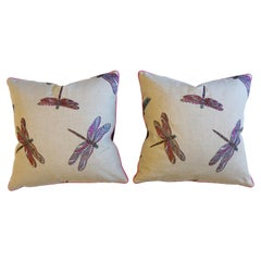 Dragonfly Embroidered Throw Pillows