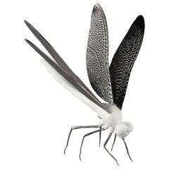 Dragonfly Figurine, Matte White