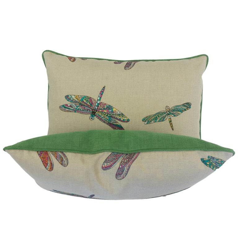 American Dragonfly Lumbar Pillows For Sale