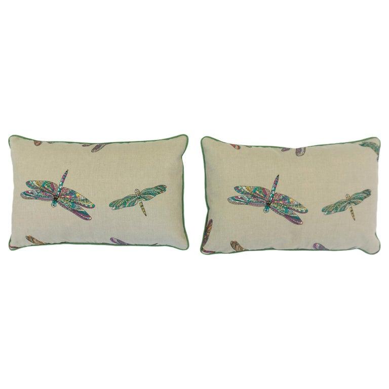 Dragonfly Lumbar Pillows For Sale